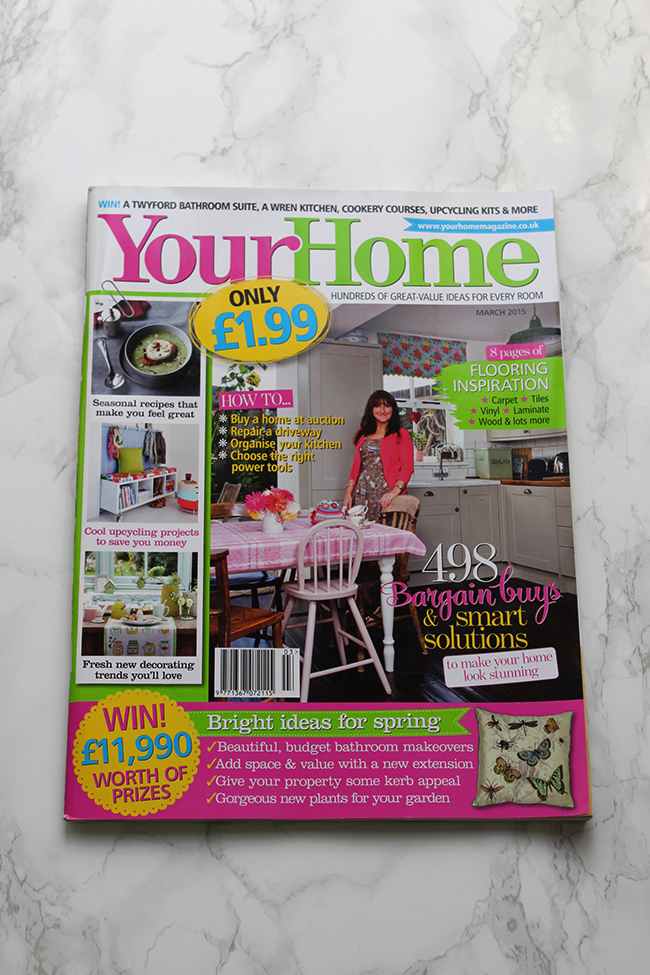 Your Home Magazine March 2015 cover