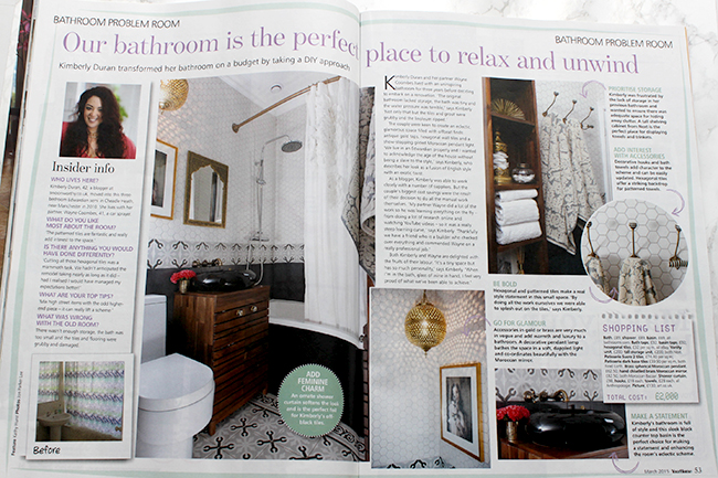 Swoon Worthy bathroom in Your Home Magazine