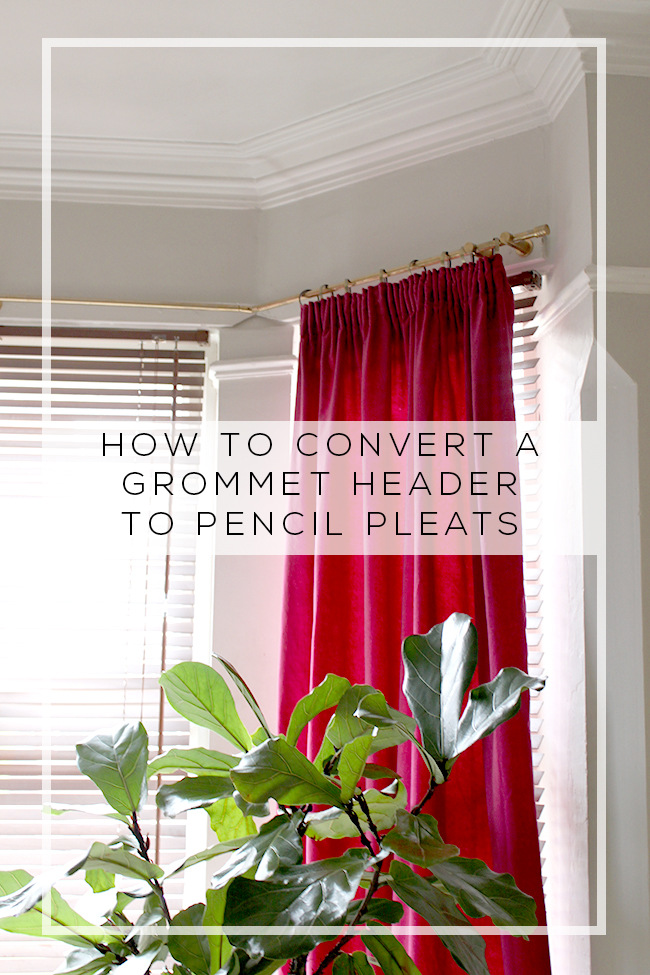 Ikea Hack: Converting a Grommet Curtain Header to Pencil Pleats