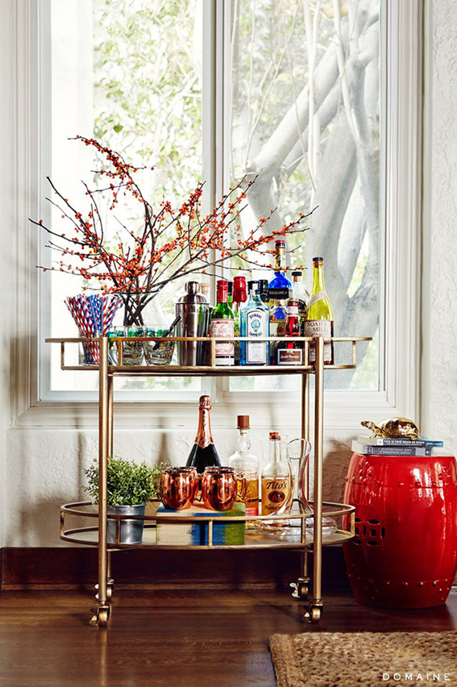 Bar Cart Styling 1