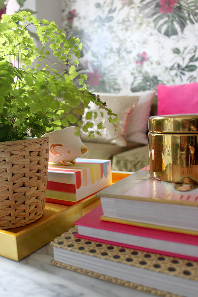 Swoon Worthy coffee table vignette