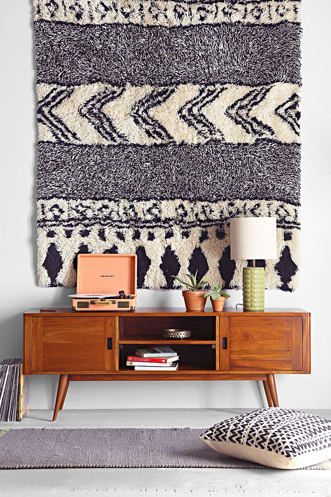 midcentury sideboard styling 2