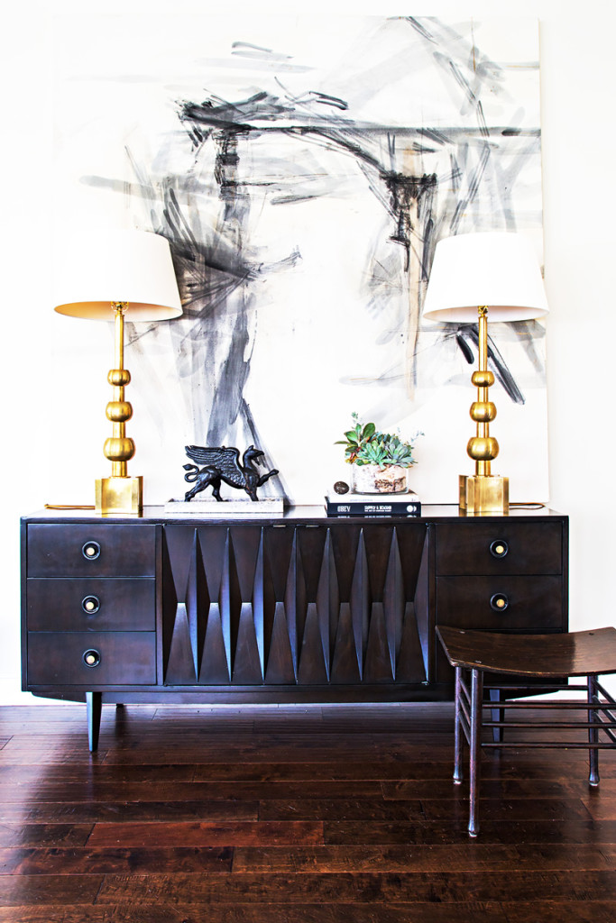 midcentury sideboard styling 8