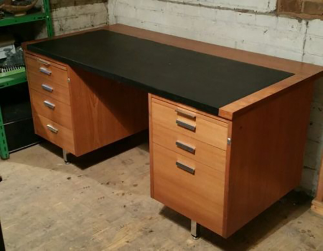 mid century desk before