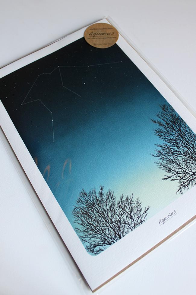 Lee Morris Zodiac Print - Aquarius