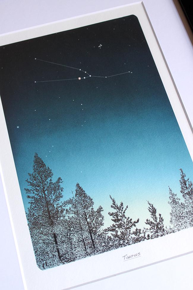 Lee Morris Zodiac Print - Taurus