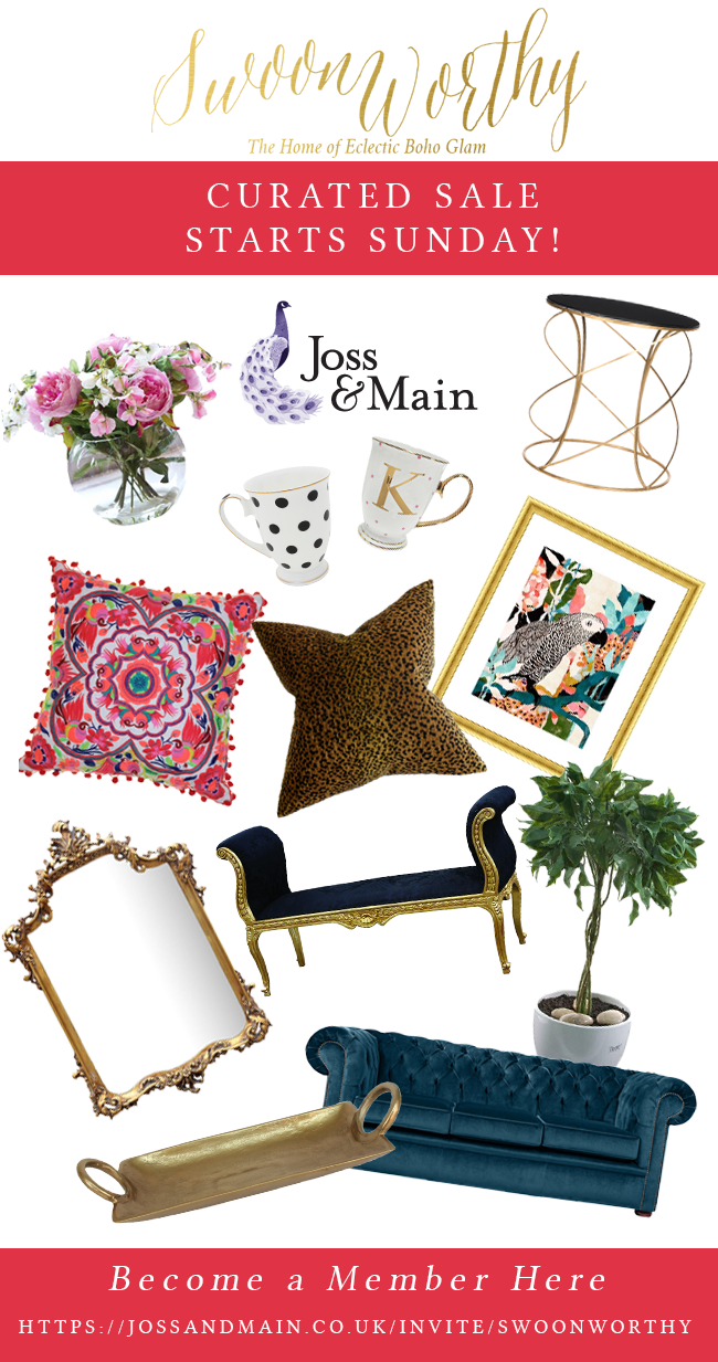 My curated sale with joss and main starts sunday swoon for Joss and main contact