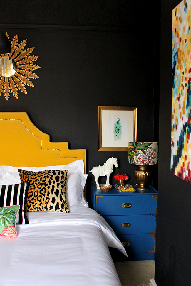 Swoon Worthy colourful bedroom