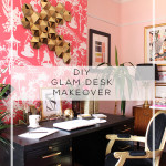 Art Deco Inspired Glam Desk Makeover