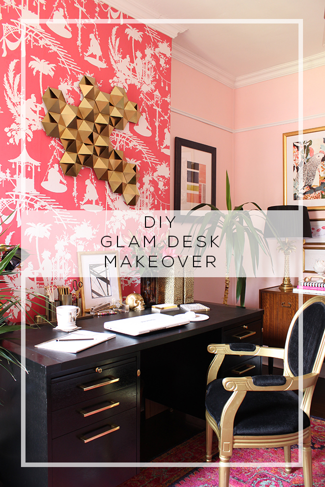 Art Deco Inspired Glam Desk Makeover 187 Swoon Worthy