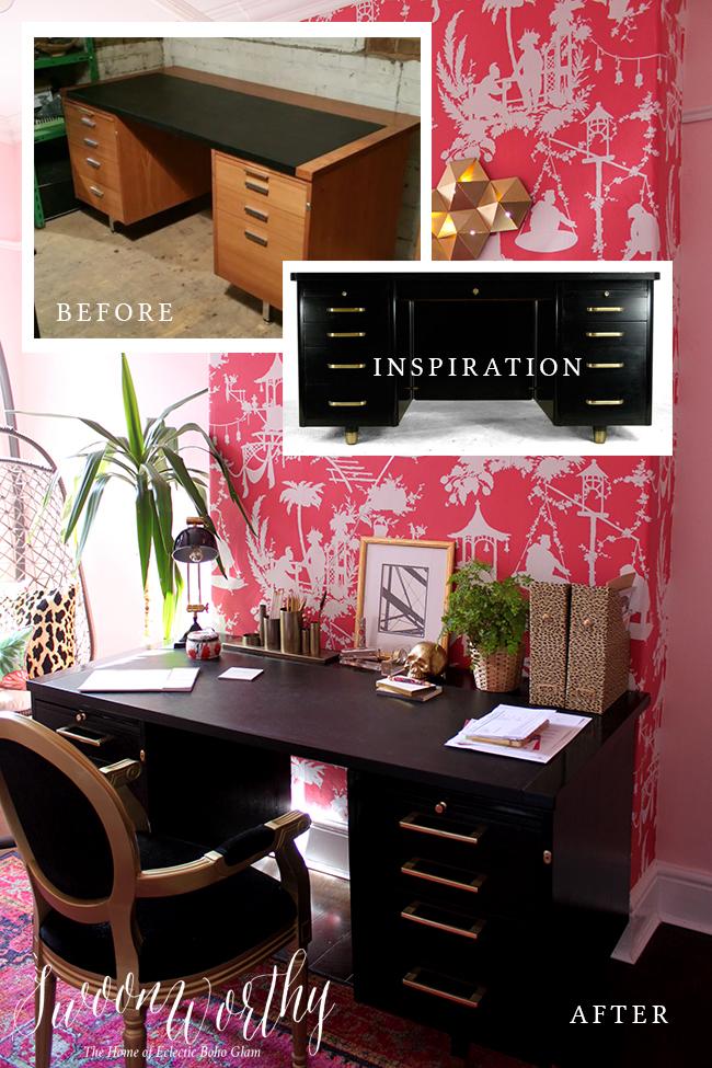 Glam Desk DIY - Swoon Worthy