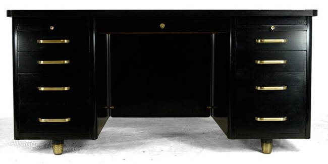 black antique desk