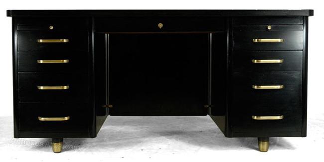 black antique desk