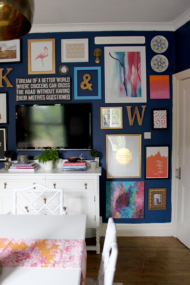 Swoon Worthy Dining Room Gallery Wall