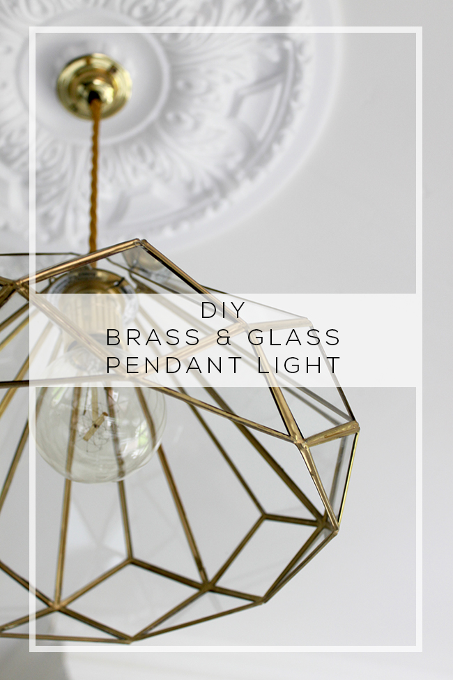 My new DIY Brass and Glass Kitchen Pendants!