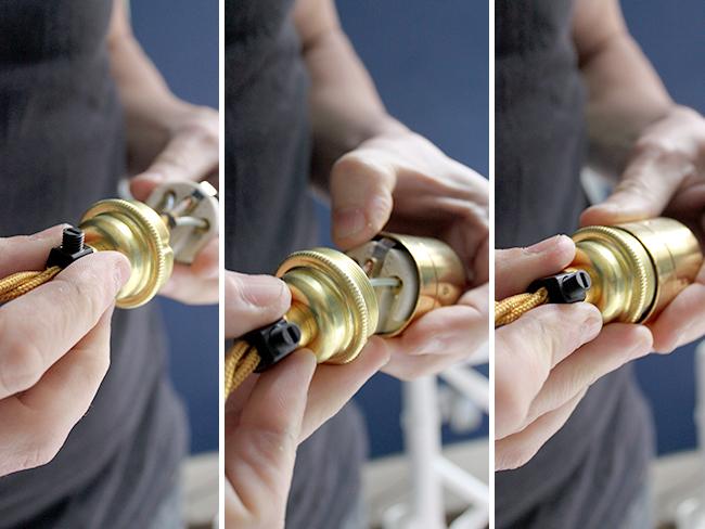 assembling the bulb holder