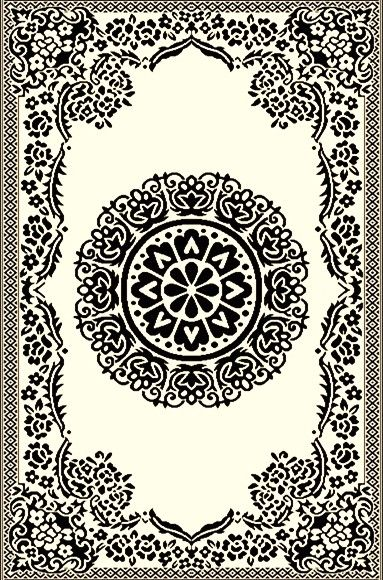 Boho Black and White Outdoor Rug