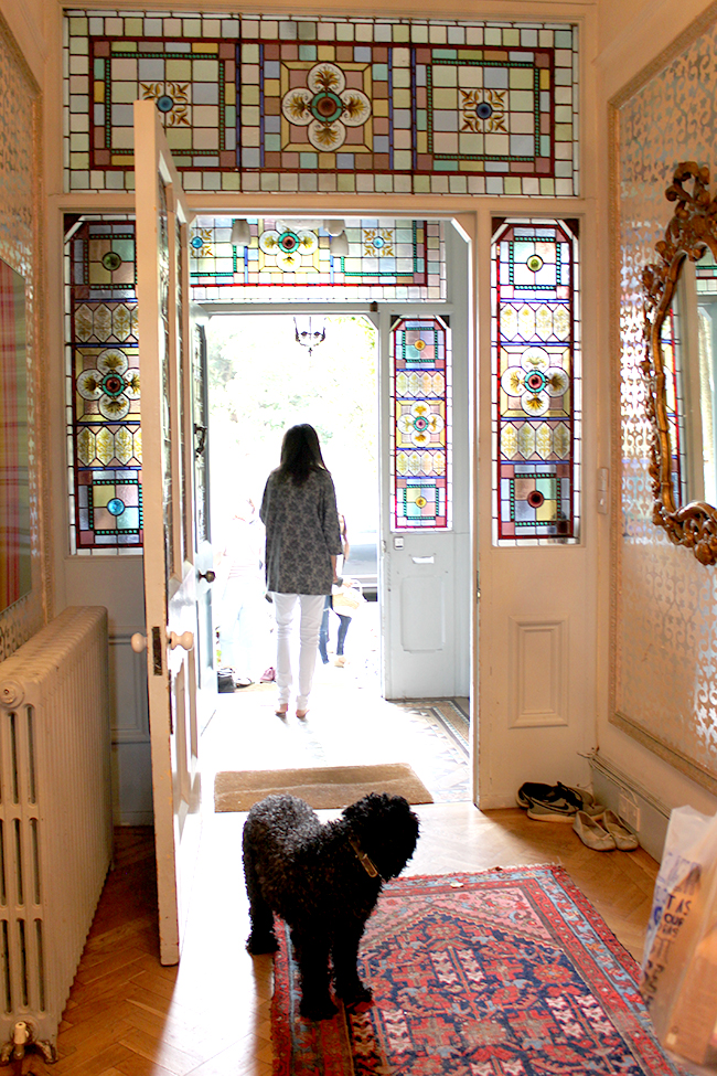 stain glass entrance - Swoon Worthy - LivingEtc House Tour