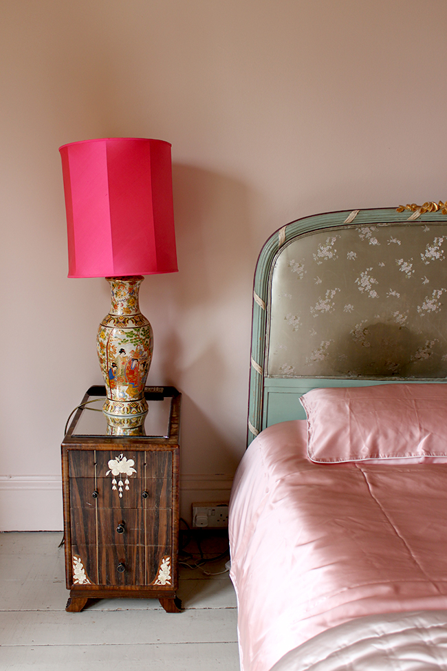 Farrow and Ball Calamine - pink bedroom - Swoon Worthy - LivingEtc House Tour