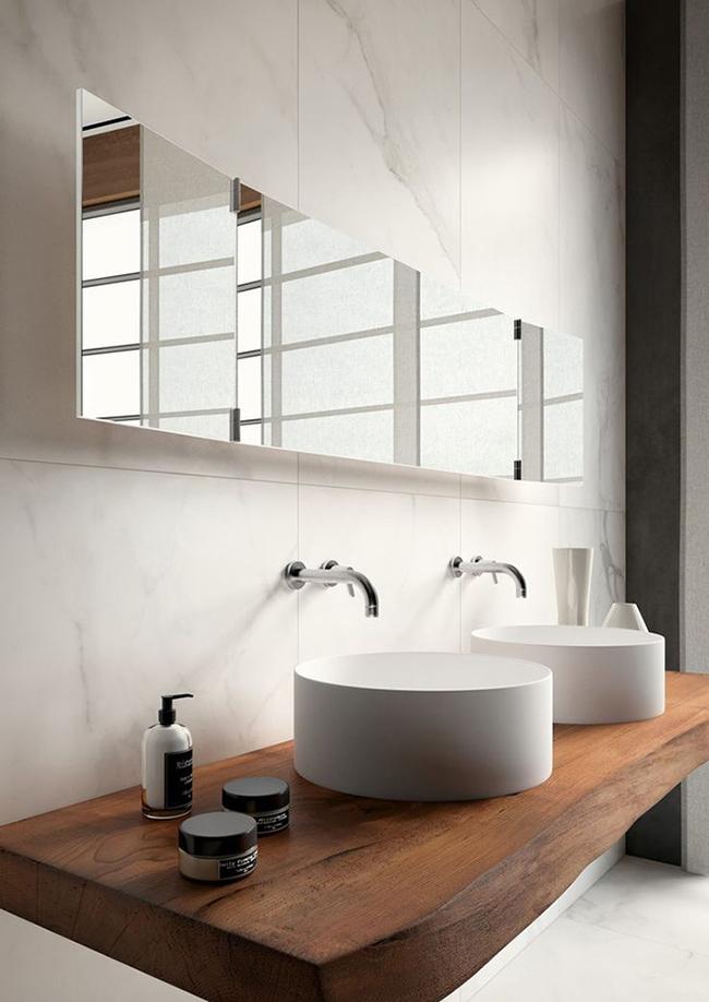 calacatta marble porcelain bathroom