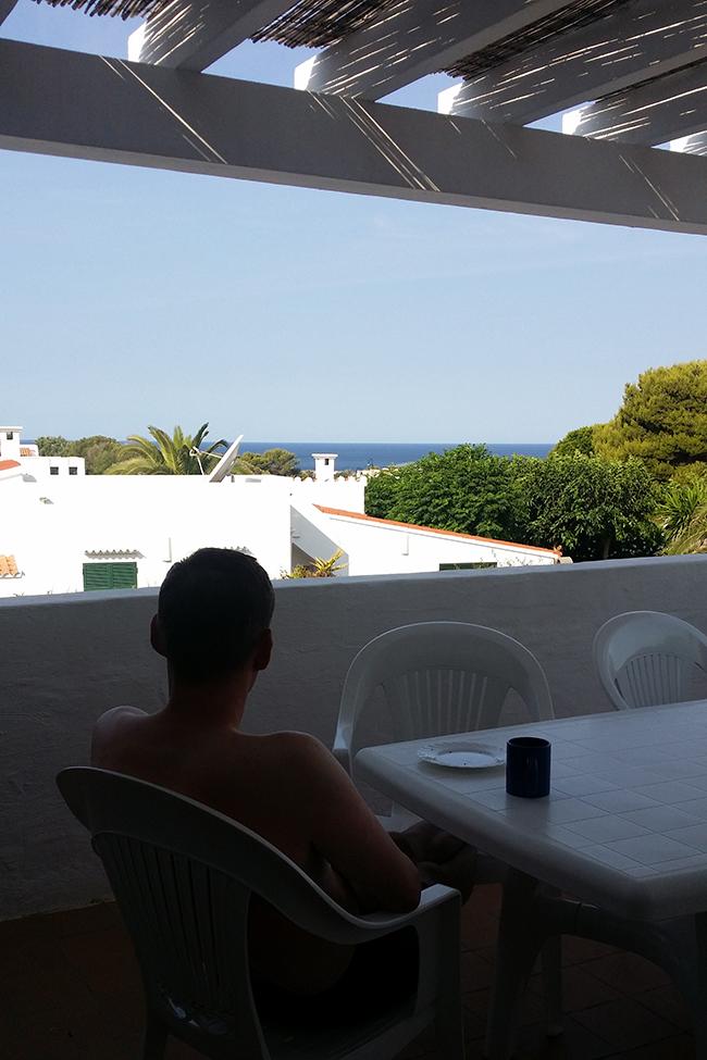 sea view from our villa in Menorca