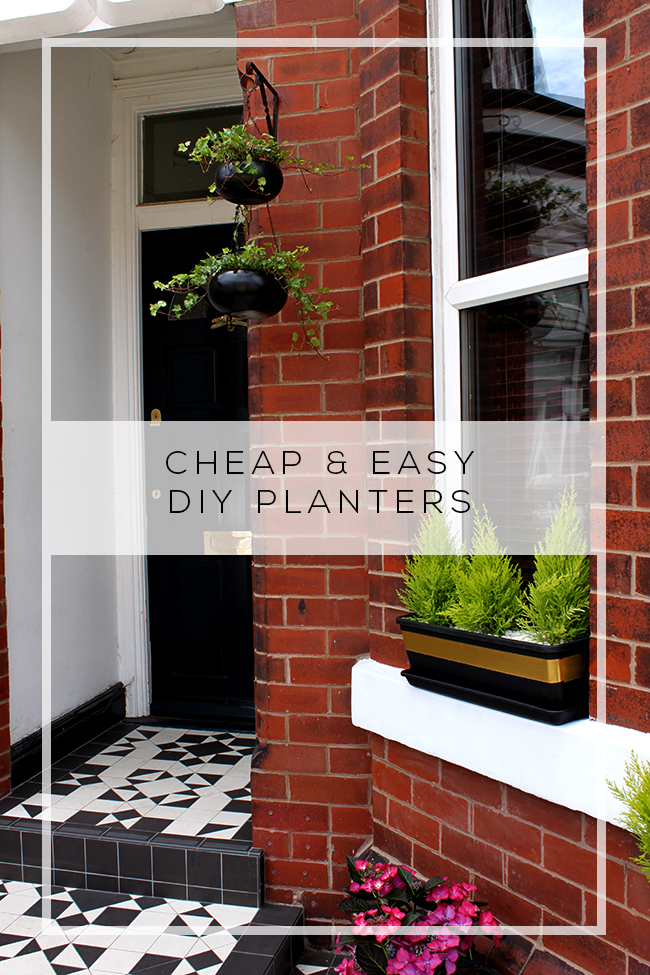 Front Of House Simple Diy Planters Plus A Sneak Peek