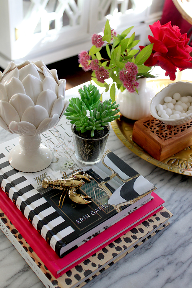 Swoon Worthy - coffee table vignette styling