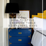 How to Style 1 Bedside Table 3 Different Ways