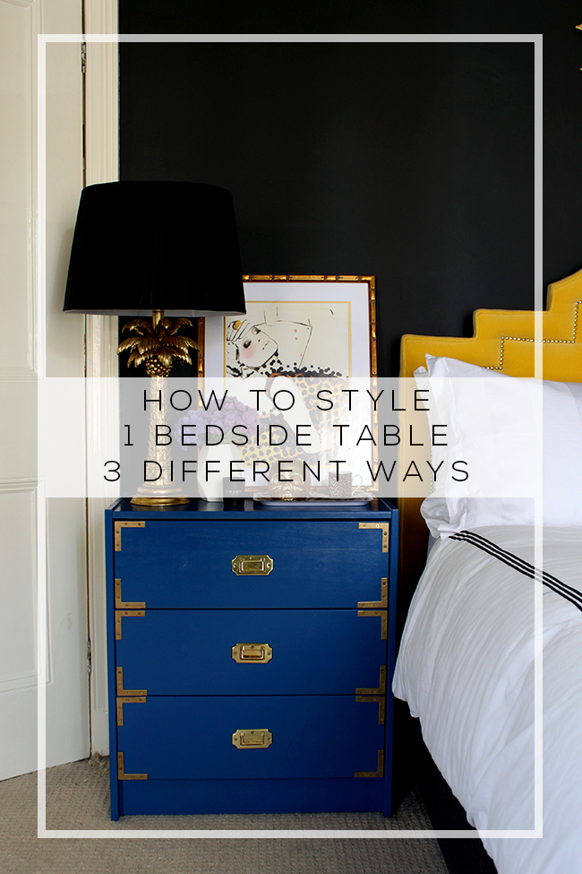 I'm sharing three different looks and giving my advice on how to style a bedside table. Check out my post for styling tips, how to advice and more!