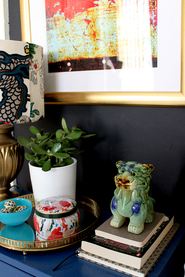 How to Style a Bedside Table - Boho Brights - Detail 2