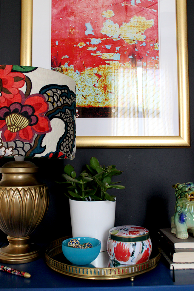 Check out my tips on how to style a bedside table and create a Boho Brights look