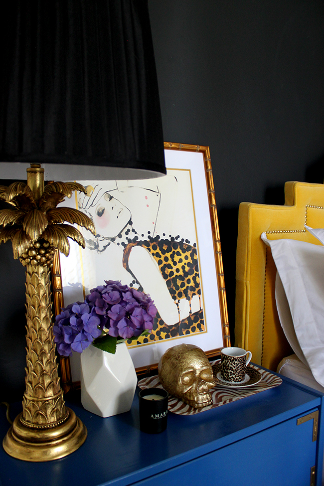 Does your bedroom have a Glamorous Vixen vibe? Find out how to style a bedside table to match!