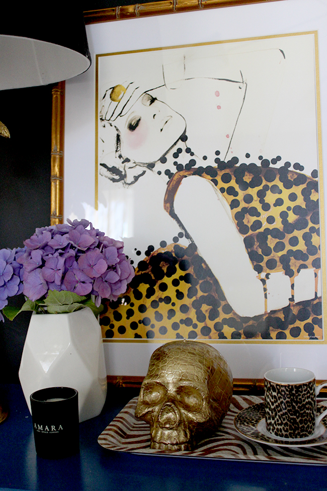 Find out how to Style a Bedside Table following a Glamorous Vixen theme