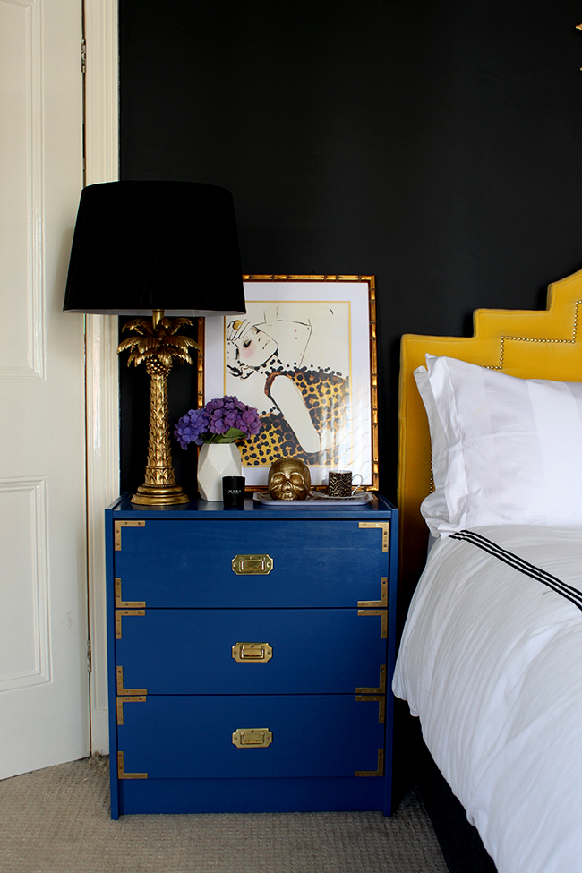Follow my tips and find out how to Style a Bedside Table with a Glamorous Vixen look
