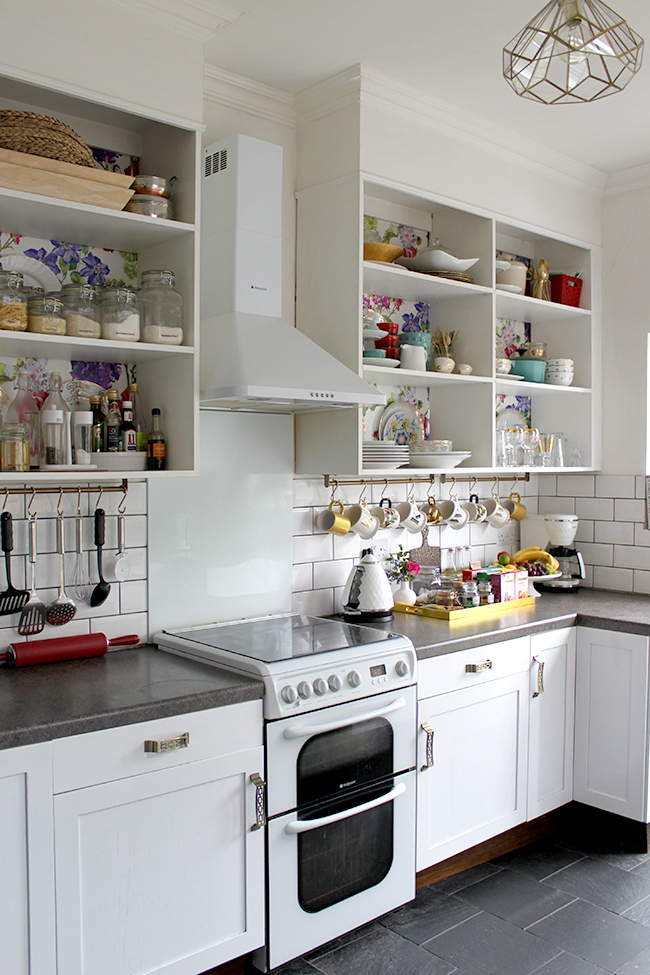 Swoon Worthy - white kitchen with open shelving