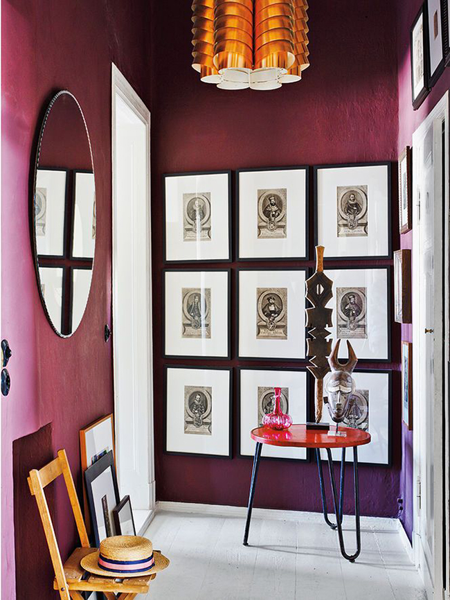 dark berry walls