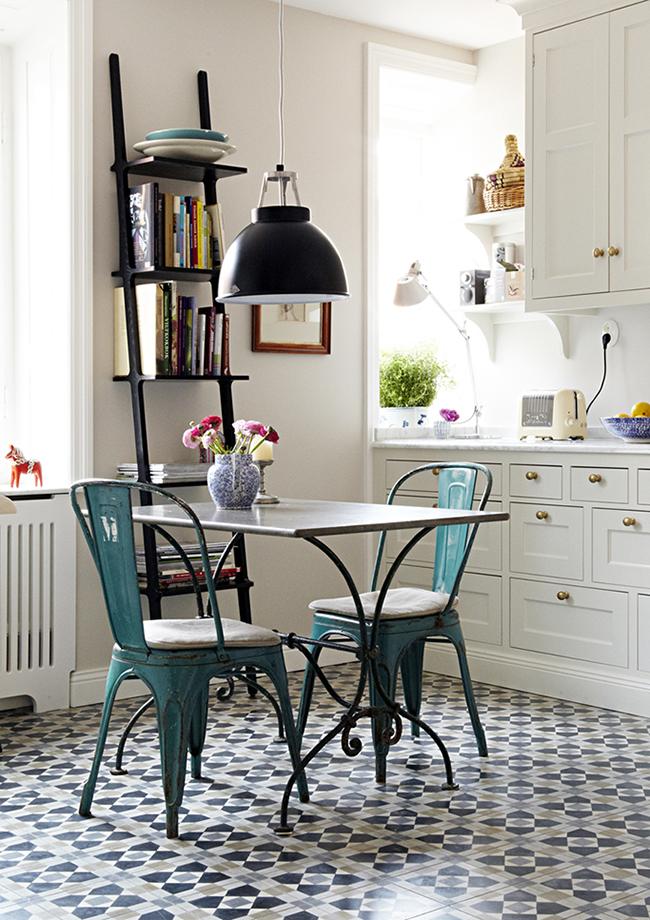 Kitchen with bistro chairs