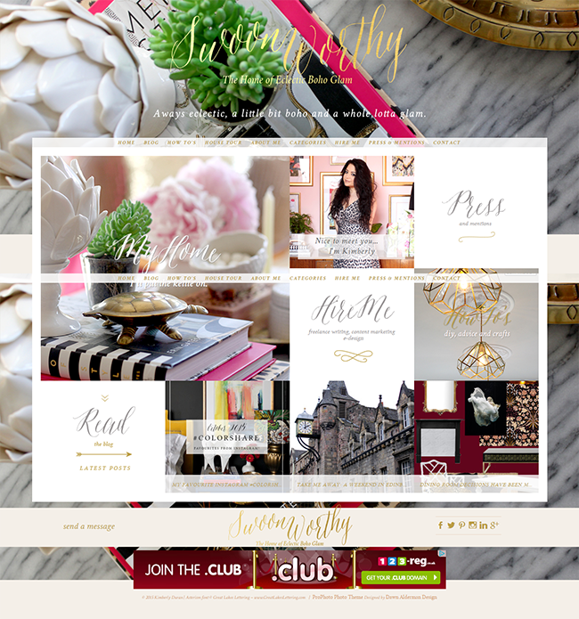 Swoon Worthy Oct 2015 Home Page
