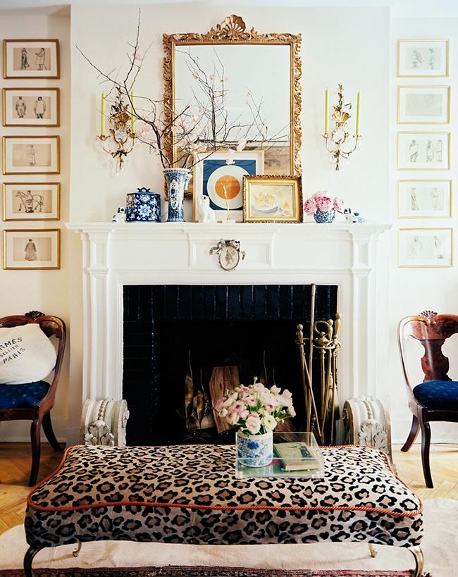 Lonny Mag leopard print stool