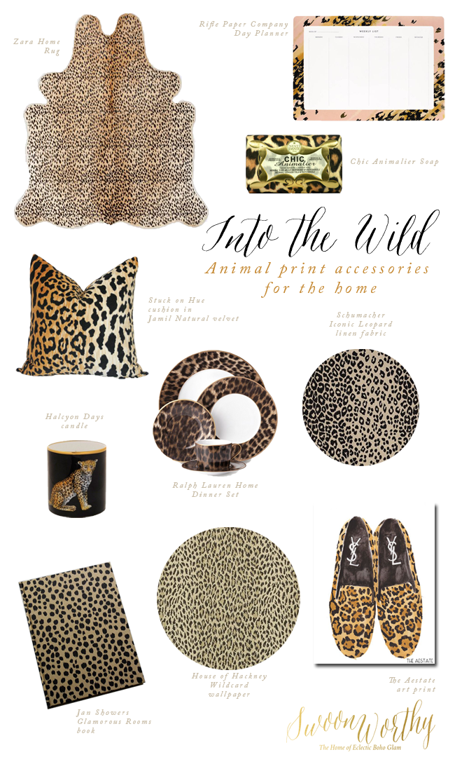 Swoon Worthy - leopard print accessories for home
