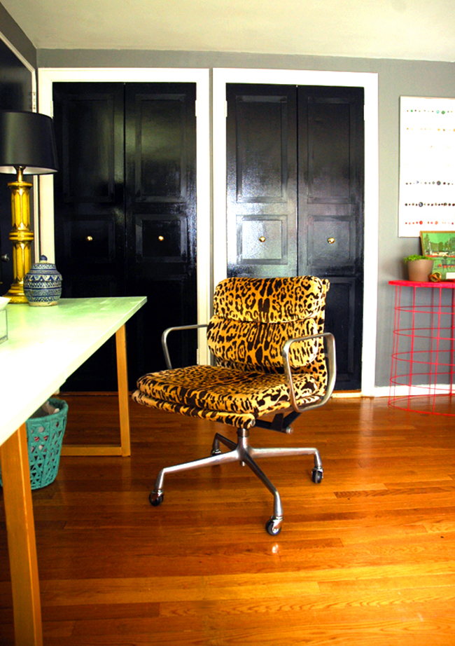 scalamandre leopardo office chair