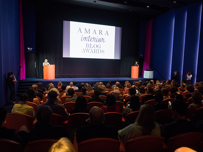 Amara Interior Blog Awards theatre