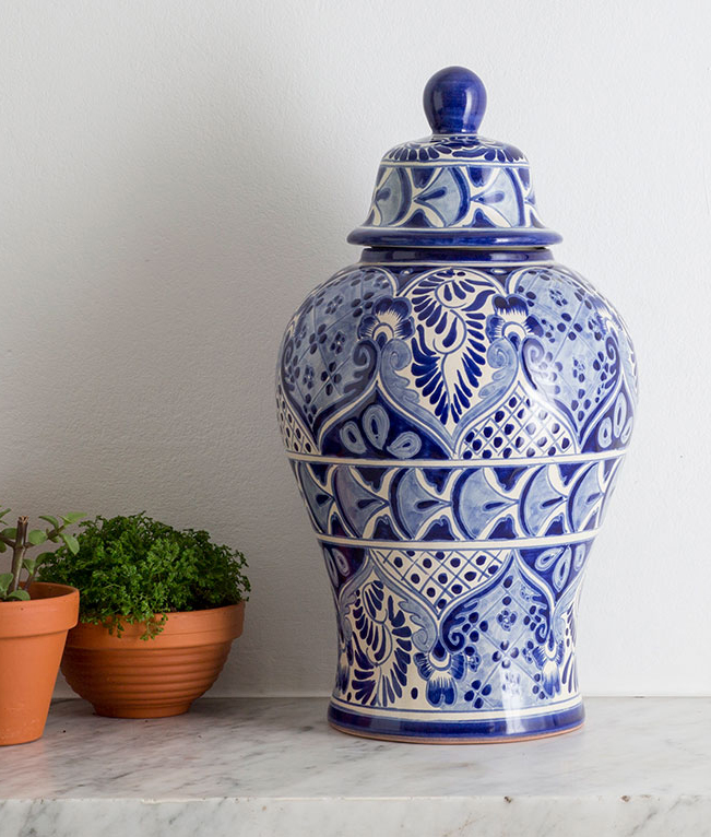 Giveaway: Blue & White Mexican Ginger Jar from DesignRaaga