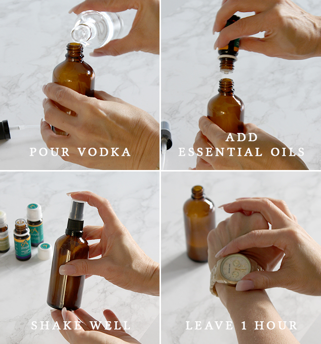 Follow my easy steps to find out how to make your own Christmas room spray with essential oils.