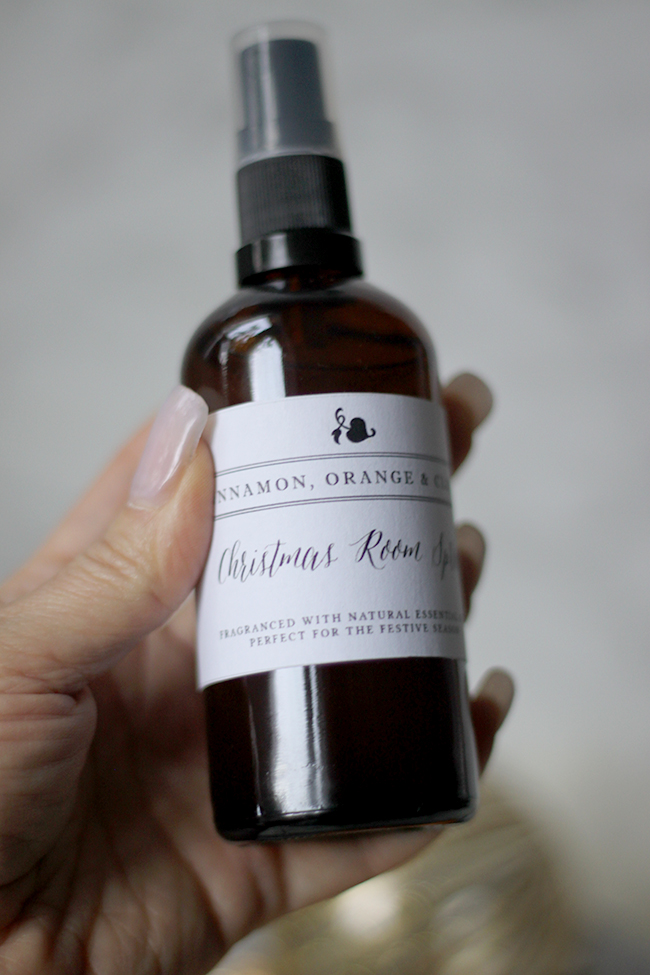 Try your hand at making my own DIY Christmas room spray with essential oils.