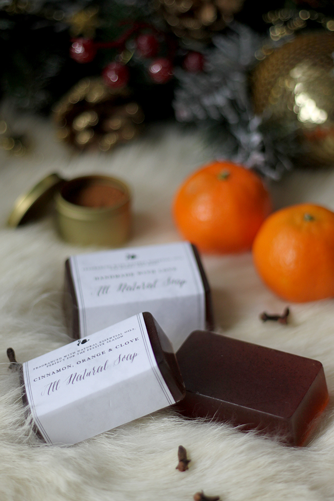 My Cinnamon Orange and Clove DIY Christmas Soap makes a great handmade gift!