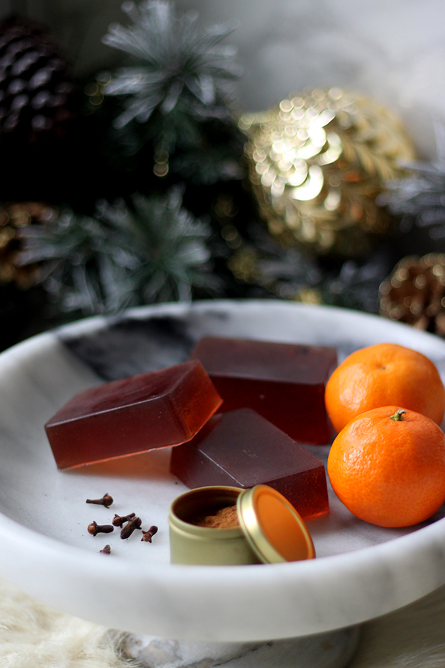 Cinnamon Orange and Clove DIY Christmas soap