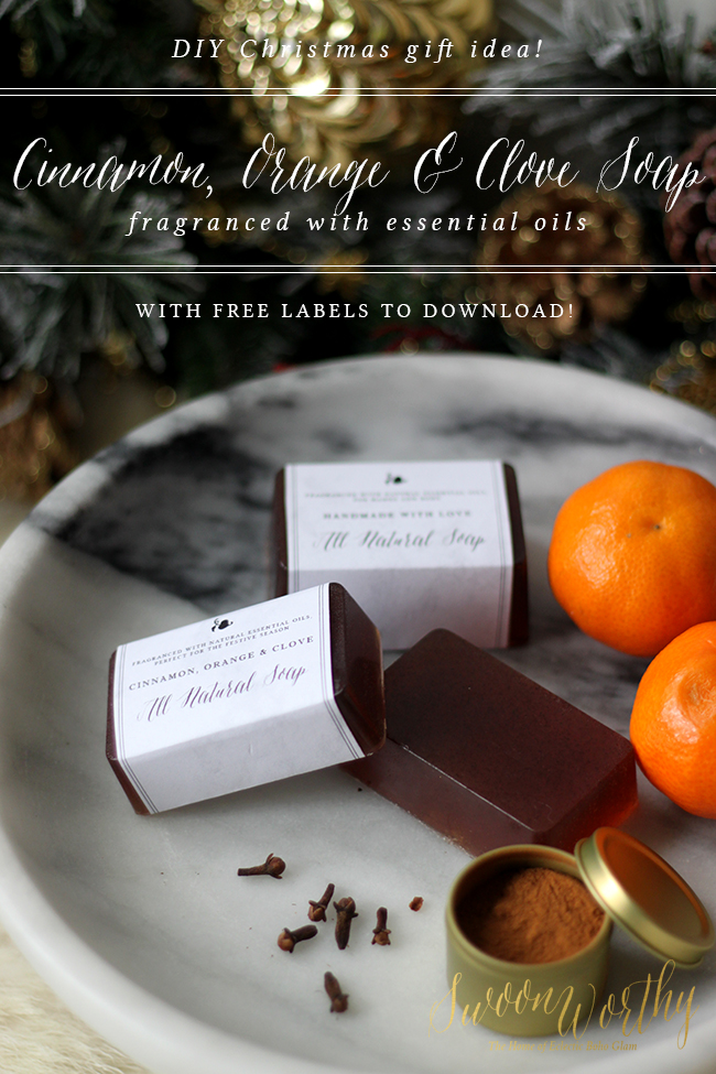 Why not have a go at making my Cinnamon Orange and Clove DIY Christmas soap - Swoon Worthy