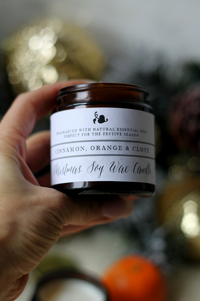 DIY Orange Cinnamon and Clove Christmas Soy Wax candle with essential oils - Swoon Worthy