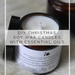 DIY Christmas Candle with Essential Oils